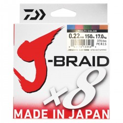 Daiwa J-Braid X8 Multicolor 150m-0.22mm/17kg