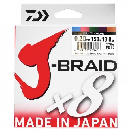 Daiwa J-Braid X8 Multifilar Multicolor 150m-0.20mm/13kg