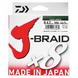 Daiwa J-Braid X8 Dark Green 300m-0.42mm/46.5kg