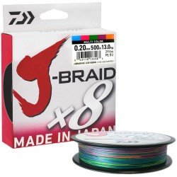 Daiwa J-Braid X8 Multicolor 500m-0.20mm/13kg