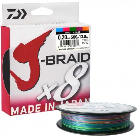 Daiwa J-Braid X8 Multicolor 500m-0.20mm/13kg