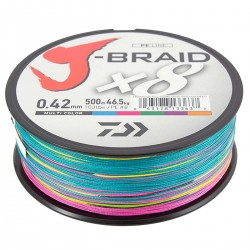 Daiwa J-Braid X8 Multicolor 500m-0.42mm/46.5kg