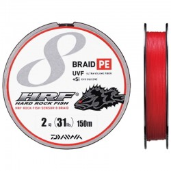 Braid PE UVF +Si Hard Rock Fish 150m-2/31lb