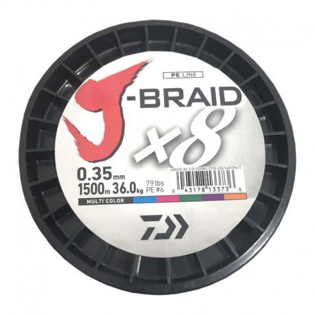 Daiwa J-Braid X8 Multicolor 1500M-0.35mm/36kg