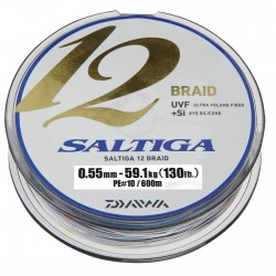 Daiwa Saltiga 12 Braid - 600m 0.55mm 59.1Kg (130lb)