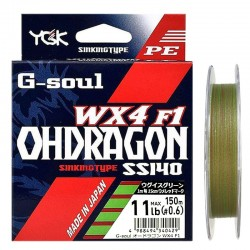 YGK G-Soul Ohdragon WX4 F1 SS140 (150m 11Lb PE0.6)