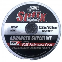 Sufix 832 Advanced Superline 100m (22.8Kg/0.28mm)