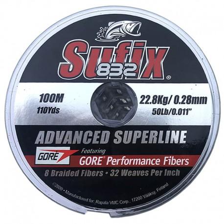 Sufix 832 Advanced Superline 100m (22.8Kg/0.28mm)