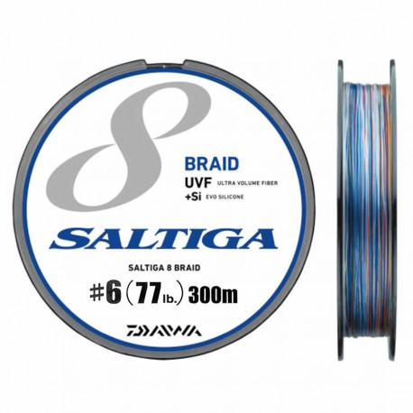 Daiwa 8 Braid UVF +Si SALTIGA 300m - 6/77lb-35kg