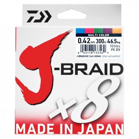 Daiwa J-Braid X8 Multifilar Multicolor 300M-0.42mm/46,5kg
