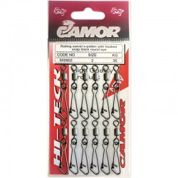 Camor Rolling Swivel x-patten hooked snap - 2 (12pcs)