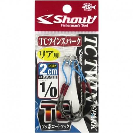 Shout 339 - TC Twin Spark 2cm - 1/0 (2pcs)