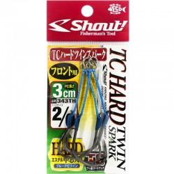Shout 343 - TC Hard Twin Spark 3cm - 2/0 (2pcs)