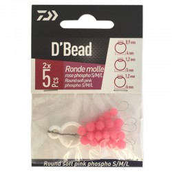 Daiwa D'Bead Round Soft Pink Phospho S/M/L