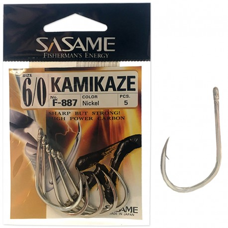 Sasame F-887 Kamikaze Nickel 6/0 (5 pcs)