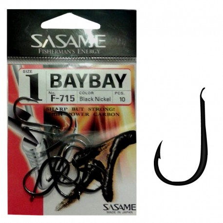 Sasame F-715 Baybay Black Nickel 1 (10 pcs)