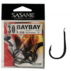 Sasame F-715 Baybay Black Nickel 3/0 (6 pcs)