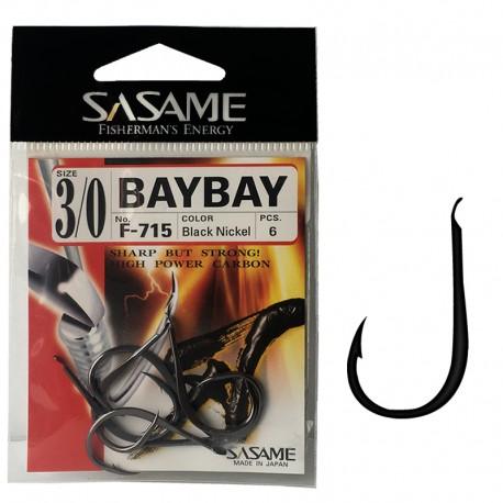 Sasame F-715 Baybay Black Nickel 3/0 (6 pcs)