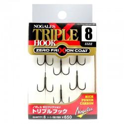 Nogales Zero Frixion Triple Hook - 8 (6pcs)
