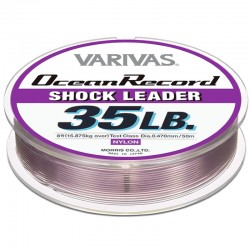 Varivas Ocean Record Shock Leader 50m 35lb (8-0.47mm) Misty Purple