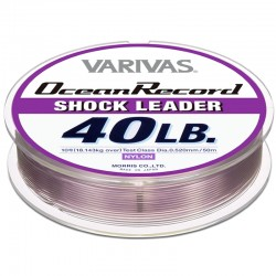 Varivas Ocean Record Shock Leader 50m 40lb (10-0.52mm) Misty Purple