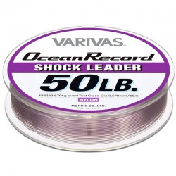 Varivas Ocean Record Shock Leader 50m 50lb (12-0.57mm) Misty Purple