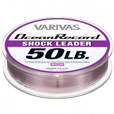 Varivas Ocean Record Shock Leader 50m 50lb (12-0.57mm) Misty Purple