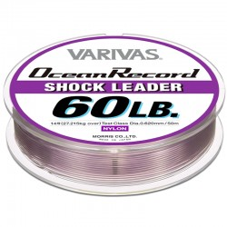 Varivas Ocean Record Shock Leader 50m 60lb (14-0.62mm) Misty Purple