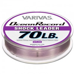 Varivas Ocean Record Shock Leader 50m 70lb (18-0.70mm) Misty Purple