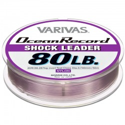 Varivas Ocean Record Shock Leader 50m 80lb (20-0.74mm) Misty Purple