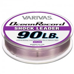 Varivas Ocean Record Shock Leader 50m 90lb (22-0.78mm) Misty Purple