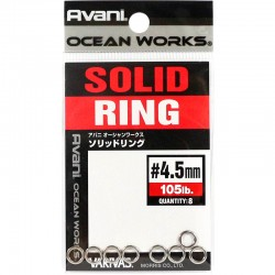 Varivas Avani Solid Ring 4.5mm 105lb (8pcs)