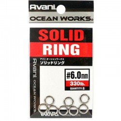 Varivas Avani Solid Ring 6.0mm 330lb (8pcs)