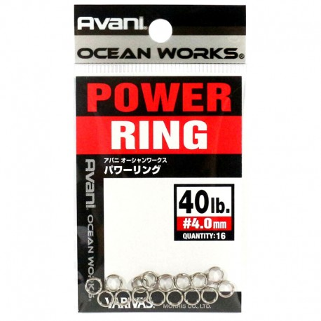 Varivas Avani Power Ring 4.0mm 40lb (16pcs)