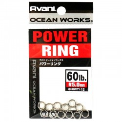 Varivas Avani Power Ring 5.0mm 60lb (12pcs)