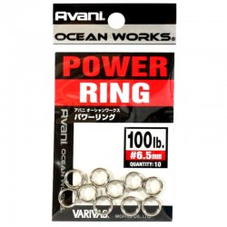 Varivas Avani Power Ring 6.5mm 100lb (10pcs)