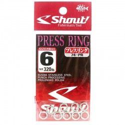 Shout Press Ring 6.0mm 320lb (9pcs)