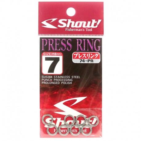 Shout Press Ring 7.0mm 440lb (8pcs)