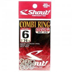 Shout Combi Ring 6.0mm 74lb (6pcs)