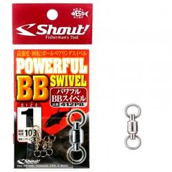 Shout Powerful BB Swivel size 1 - 103lb (4pcs)