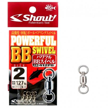 Shout Powerful BB Swivel size 2 - 127lb (4pcs)