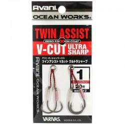 Varivas Twin Assist V-Cut Ultra Sharp - 1 (2pcs)