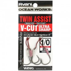 Varivas Twin Assist V-Cut Ultra Sharp - 1/0 (2pcs)
