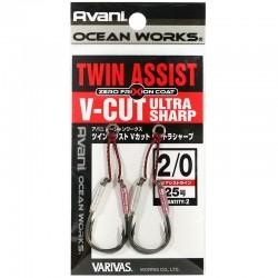 Varivas Twin Assist V-Cut Ultra Sharp - 2/0 (2pcs)