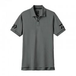 Camiseta Polo DE-7906- L -GUN METAL/ BLACK