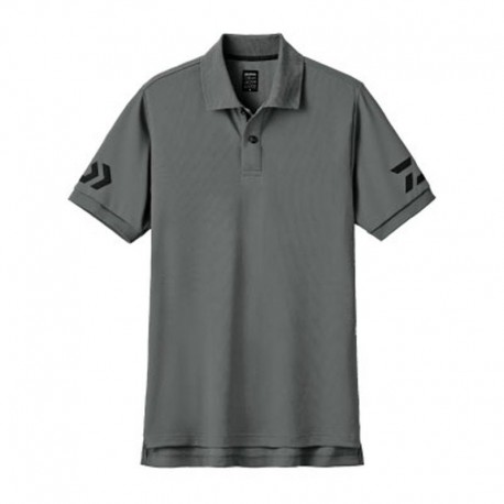 Camiseta Polo DE-7906- L -GUN METAL/ BLACK